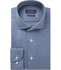 profuomo originale knitted overhemd donkerblauw