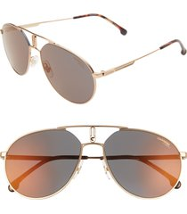 men's carrera eyewear 59mm aviator sunglasses - gold copper/ grey bronze