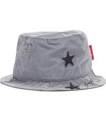 x r!ch 'gemini' star appliqué reflective bucket hat
