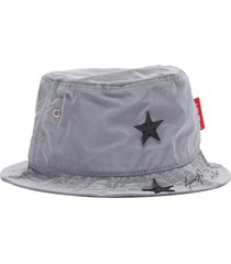 x r!ch 'gemini' star appliqué reflective bucket hat