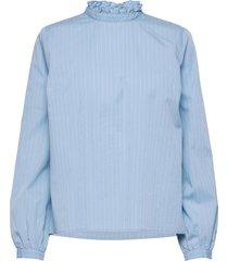 heike top blouse lange mouwen blauw modström
