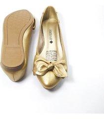baleta moño dorado b00004-03