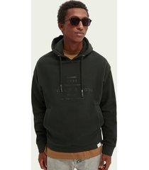 scotch & soda graphic cotton-blend hoodie