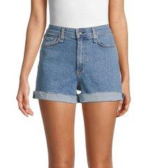 rag & bone women's nina high-rise denim shorts - farrah - size 32 (10-12)