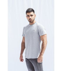 camiseta pompilio slim gris cuello tejido