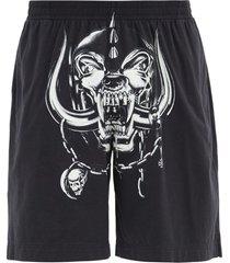 x the world motorhead big skull shorts