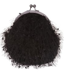 la regale confetti feather yarn pouch clutch