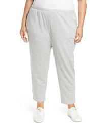 plus size women's eileen fisher ankle pants, size 2x - grey