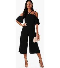 sofia open shoulder culotte jumpsuit