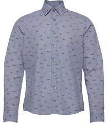 8646 - gordy sc skjorta casual blå xo shirtmaker by sand copenhagen