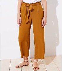 loft beach tie waist wide leg pants