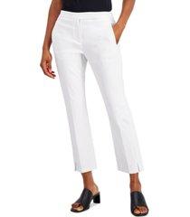 alfani cropped slit-hem straight-leg pants, created for macy's