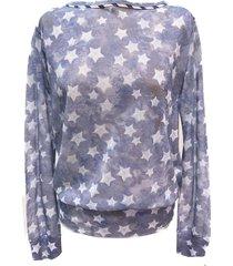 ws4120m64 voile shirt met sterren.