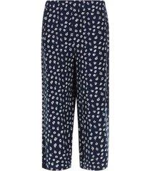 pantalón culotte flores color azul, talla 10