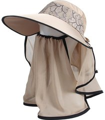 sombrero para mujer, verano femenino visera uv encaje-