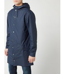 rains men's long jacket - blue - m-l