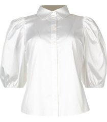 stretch blouse met pofmouwen kira  wit