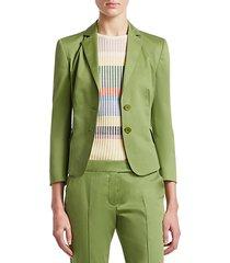 two-button cotton-blend blazer