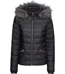 giacca trapuntata con cappuccio (nero) - bodyflirt