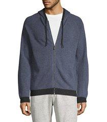 raglan-sleeve cashmere jacket