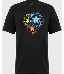 polera converse  trinity chuck patch cotton jersey graphic t-shirt negro - calce regular