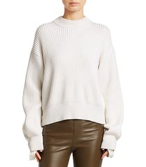 cotton & wool ribbed sweater