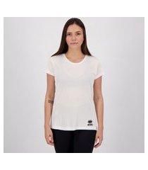 camiseta errea creponada feminina branca