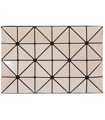 lucent clutch with geometric pattern