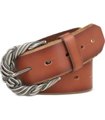frye rope buckle perforated leather belt