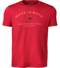 camiseta estampada made in mato vinho multicolorido