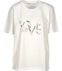 saint laurent faded love printed t-shirt