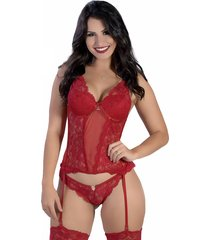 espartilho yasmin lingerie noiva vermelho