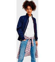 bomber tommy jeans tjm essential bomber jacket azul - calce regular