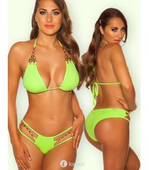 neon geel/groene bikini