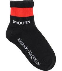 alexander mcqueen stripe mcqueen sport socks