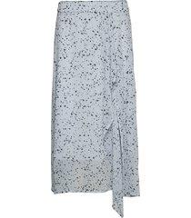 rebeccaiw skirt knälång kjol blå inwear