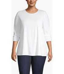lane bryant women's classic long-sleeve tee 22/24 white