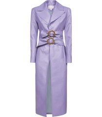 matériel w double belts coat