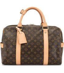 louis vuitton carryall travel tote - brown
