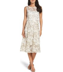 adrianna papell midi dress, size 16 in ivory/gold at nordstrom