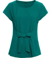 maglia in crêpe con fiocco (verde) - bodyflirt