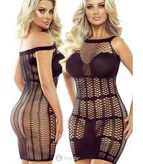 * provocative zwart net jurk wenxi
