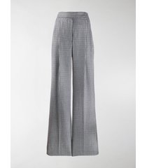 alexander mcqueen high waisted check trousers