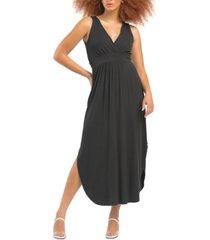 black tape drapey knit maxi dress