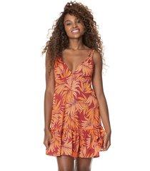 vestido rojo-naranja maaji swimwear potential short