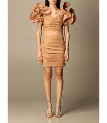 elisabetta franchi suit separate elisabetta franchi top + skirt set with rouches