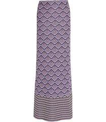 purple lurex midi skirt