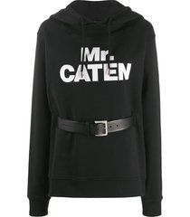 dsquared2 mr caten belted hoodie - black