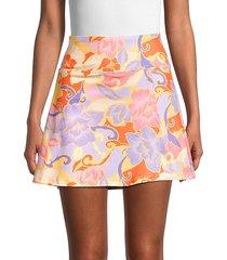 floral a-line mini skirt