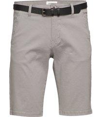 classic chino shorts w. belt shorts chinos shorts grå lindbergh